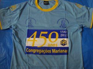 Camiseta comemorativa dos 450 anos – azul ou branca