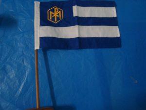Bandeira de mesa com suporte
