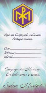 """Fôlder: """"Seja um Congregado Mariano"""""""