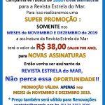 Campanha da Revista Estrela do Mar para novembro e dezembro de 2019
